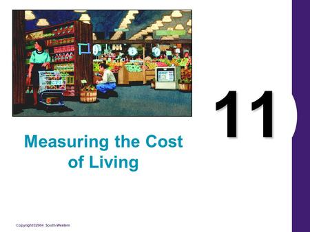 Copyright©2004 South-Western 11 Measuring the Cost of Living.