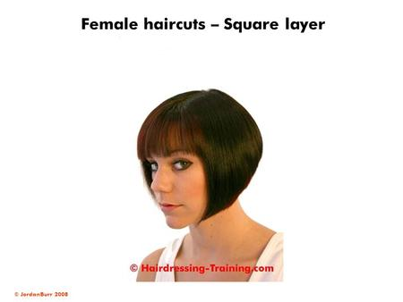 © JordanBurr 2008 Female haircuts – Square layer.