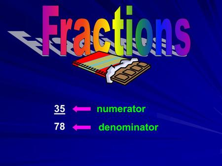 35 78 numerator denominator. Fractions can be written in both fraction and decimal form. Fraction 7 10 10 1 100 100 19 19 100 100 11000 23 231000 471.