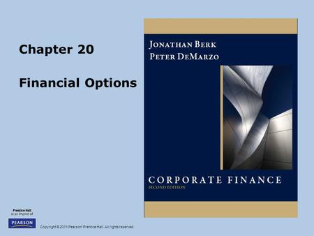 Chapter 20 Financial Options.