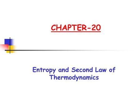 Entropy and Second Law of Thermodynamics