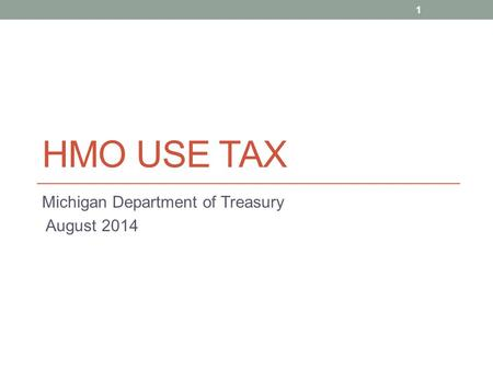 Michigan Department of Treasury August 2014