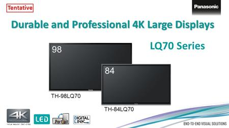 Durable and Professional 4K Large <strong>Displays</strong>