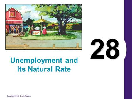Copyright © 2004 South-Western 28 Unemployment and Its Natural Rate.