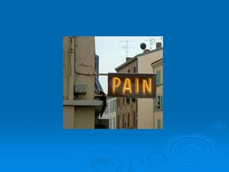 Pain: Why treat it? Humanitarian JCAHO (2001)