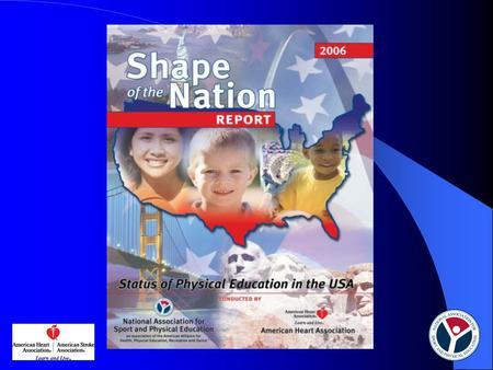 Shape of the Nation Report: Status of Physical Education in the USA 2006 National Association for Sport and Physical Education (NASPE) American Heart.