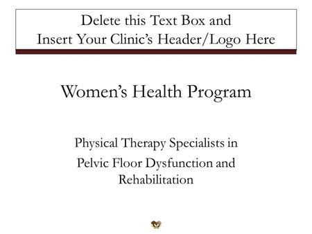 Women's Health Program