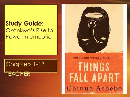 Study Guide: Okonkwo's Rise to Power in Umuofia