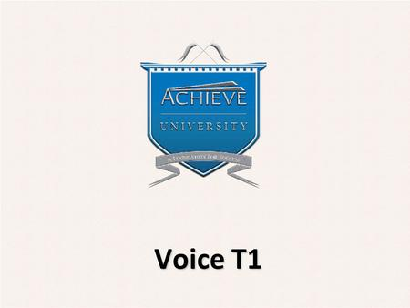 Voice T1. Objectives  Understand functionality of T1s for voice  Differentiate between analog and digital versions of T1 circuits  Recognize the differences.