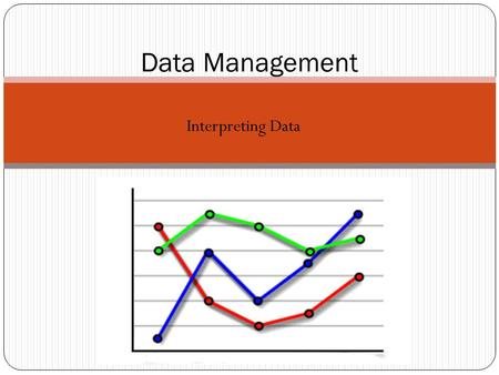 Interpreting Data Data Management. Learning Goals Tables, pictographs, bar graphs, and circle graphs each show data in an organized way. The title of.