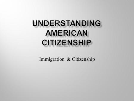 Immigration & Citizenship. From 1820 to 2001, more than 67 million people entered this country from many lands.  Some paid their own way.  Some came.