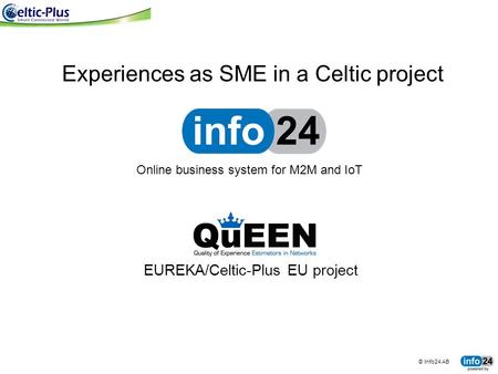 EUREKA/Celtic-Plus EU project