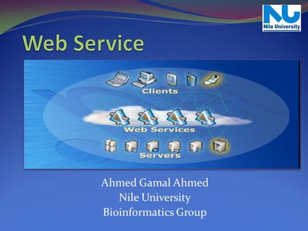 Web Service Ahmed Gamal Ahmed Nile University Bioinformatics Group