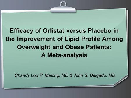 Chandy Lou P. Malong, MD & John S. Delgado, MD