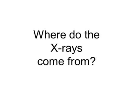 Where do the X-rays come from?. Electric charge balloon Wool Sweater - - - - - - + + +