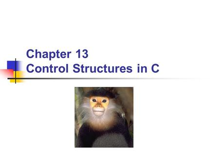 Chapter 13 Control Structures in C. BYU CS/ECEn 124Variables and Operators2 Topics to Cover… Control Structures if Statement if-else Statement switch.