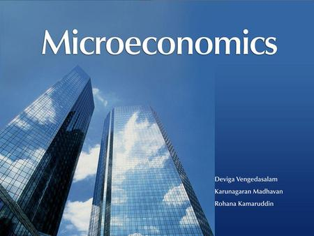 All Rights ReservedMicroeconomics © Oxford University Press Malaysia, 2008 13– 1.