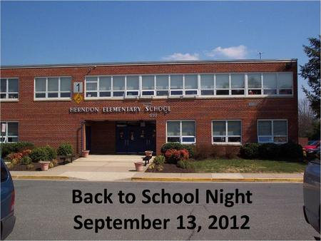 Back to School Night September 13, 2012. K Curriculum Overview.