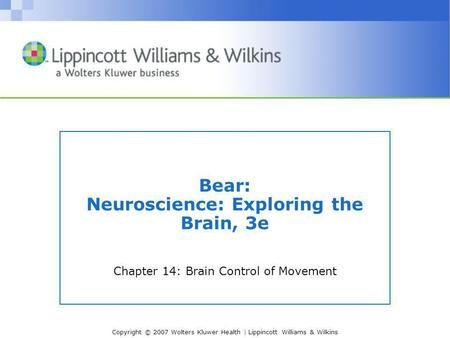 Bear: Neuroscience: Exploring the Brain, 3e