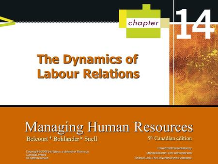 The Dynamics of Labour Relations