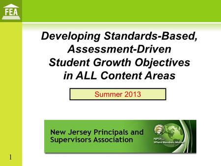 Student Growth Objectives in ALL Content Areas