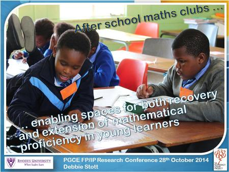 PGCE FP/IP Research Conference 28 th October 2014 Debbie Stott.