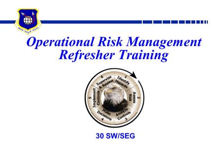 Operational Risk Management Refresher Training 30 SW/SEG.
