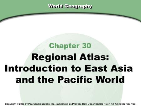 Introduction to East Asia