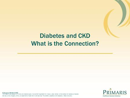 Diabetes and CKD What is the Connection?