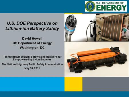 1 | Energy Efficiency and Renewable Energyeere.energy.gov The Parker Ranch installation in Hawaii U.S. DOE Perspective on Lithium-ion Battery Safety David.
