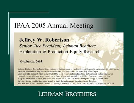 "lehman brothers equity research This achievement is described in a 2006 harvard business school case study, "" lehman brothers: rise of the equity research department."
