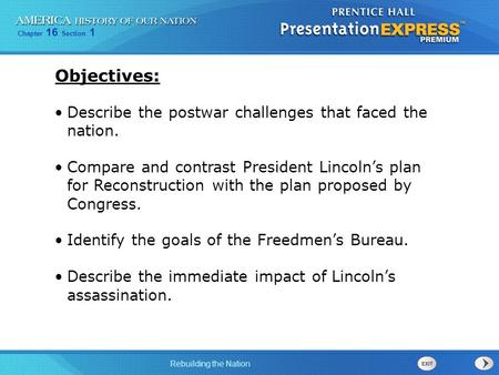 Objectives: Describe the postwar challenges that faced the nation.