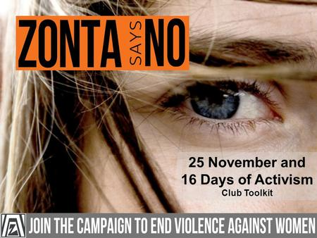 25 November and 16 Days of Activism Club Toolkit.