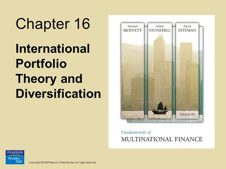 International Portfolio Theory and Diversification