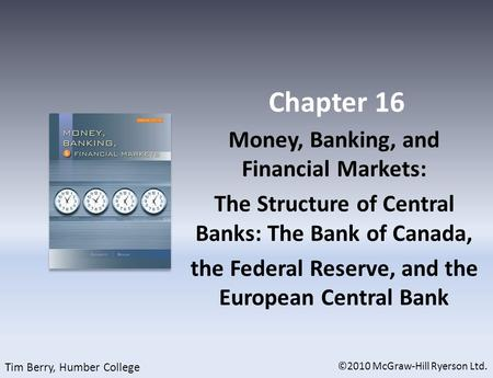Chapter 16 Money, Banking, and Financial Markets: