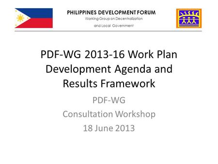Pdf Working Group On Decentralization And Local Government Work