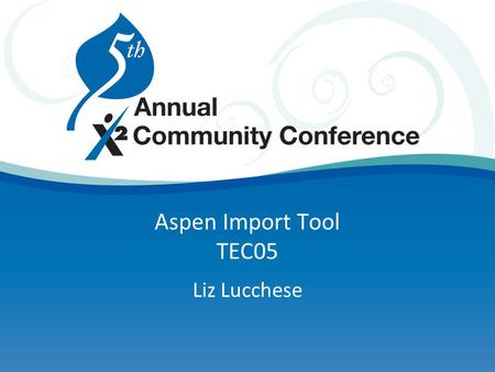Aspen Import Tool TEC05 Liz Lucchese. Agenda Overview Anatomy of an import Using the examples References Tips & tricks for working with text files.