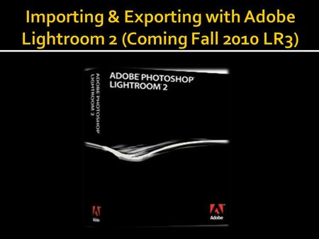 Lightroom is a nondestructive photo editing software program. Meaning, once you get your images into Lightroom, your original files will not be altered,
