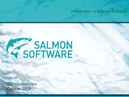 Salmon Software October 2013 Introduction to Salmon Software.