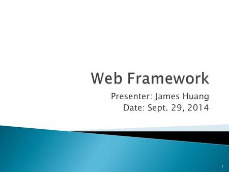 Presenter: James Huang Date: Sept. 29, 2014 1.  HTTP and WWW  Bottle Web Framework  Request Routing  Sending Static Files  Handling HTML  HTTP Errors.