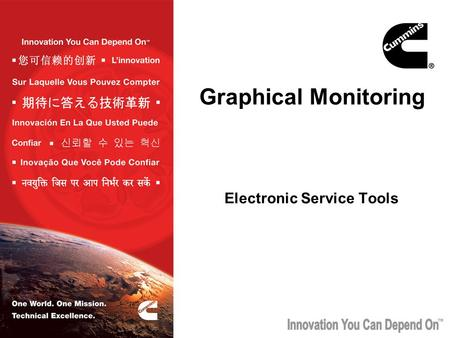 TM Graphical Monitoring Electronic Service Tools.