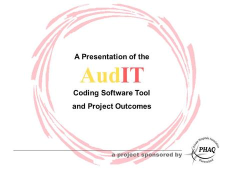 AudIT a project sponsored by A Presentation of the Coding Software Tool and Project Outcomes.