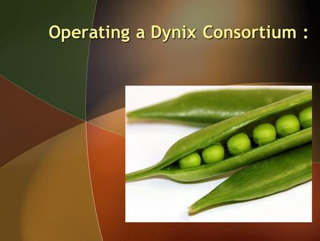 Operating a Dynix Consortium :. Operating a Dynix Consortium : Easy as Shelling Peas.