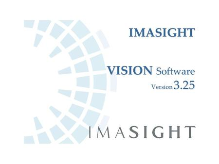 IMASIGHT VISION Software Version 3.25