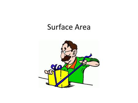 Surface Area. Rectangular Prism The surface area S.A. of a rectangular prism with base l, width w, and height h is the sum of the areas of its faces.