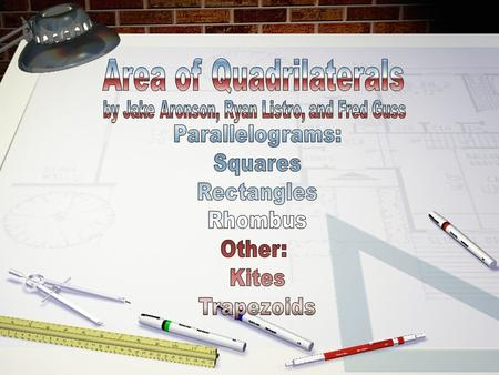 A quadrilateral is a four-sided plane. A parallelogram is a four-sided plane that meets the following criteria:  Opposite sides are parallel  Opposite.