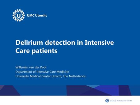 Delirium detection in Intensive Care patients