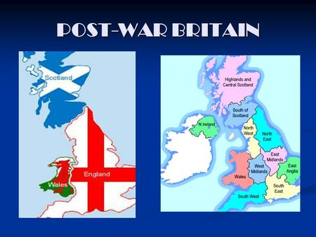 POST-WAR BRITAIN. Post-war Britain Post-war Britain The Loss <strong>of</strong> Empire The Loss <strong>of</strong> Empire a. India a. India b. Egypt b. Egypt The Search for Economic.