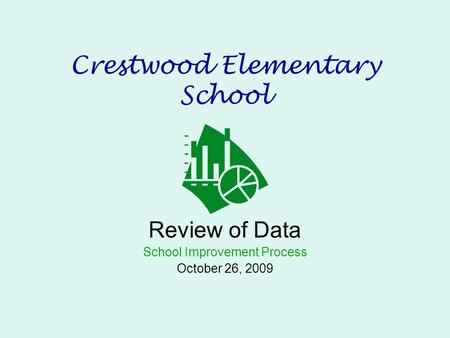 Crestwood Elementary School Review of Data School Improvement Process October 26, 2009.