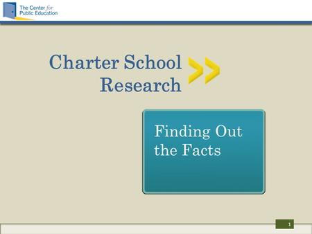 Charter School Research Finding Out the Facts 1. What we'll be looking at Who authorizes charter schools? How effective are charter schools? What policies.